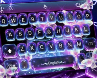 Download Colorful Glitter Neon Butterfly Keyboard Theme APK - For Android/iOS 3